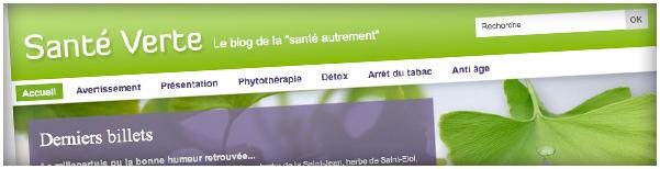 """Création Agence Dn'D - Sante-Verte.fr, le blog de la """"santé autrement"""""""