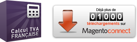 Extension Magento Correction Probleme TVA 1000 telechargements