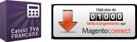 Extension Magento Correction Probleme TVA 1000 telechargements