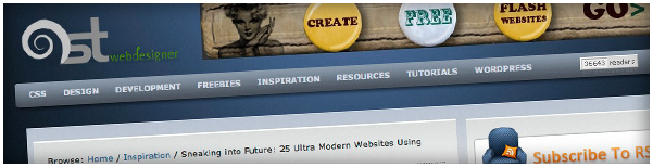 Agence DnD top 25 ultra modern site using HTML5