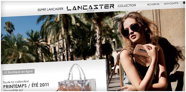 Lancement du nouveau site marchand de Lancaster Paris