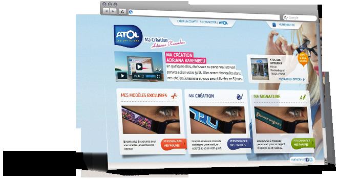 Ma Création Adriana Karembeu pour ATOL Les Opticiens par l'Agence Dn'D