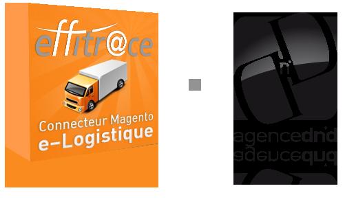 Extension logistique e-commerce Magento Effitrace par l'agence Dn'D