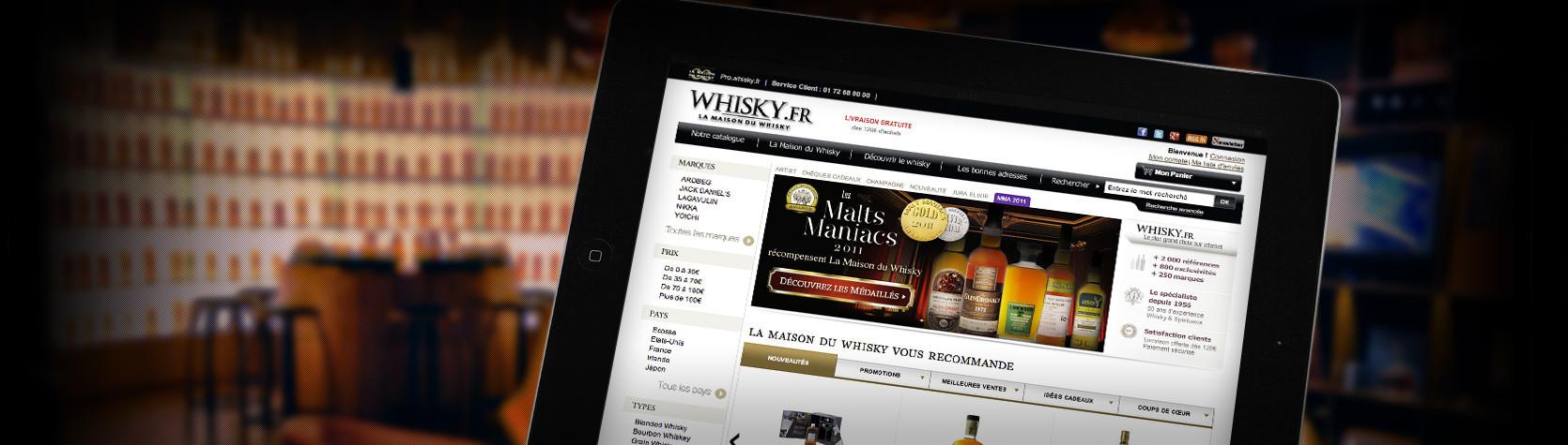 Boutique en ligne Maison du Whisky sous Magento Entreprise - Whisky.fr