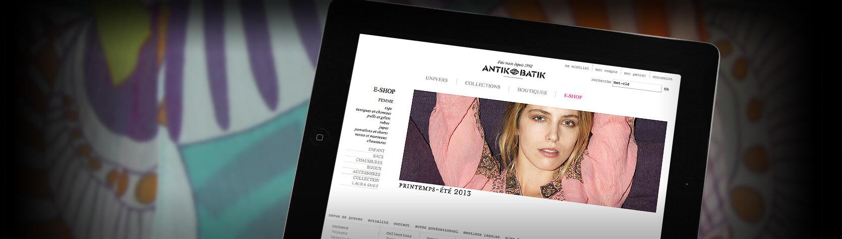 Boutique en ligne Antik Batik sous Magento