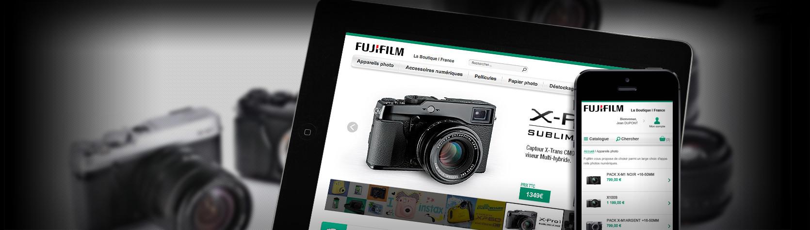 Création du site E-Commerce FUJIFILM sous Magento et version Mobile