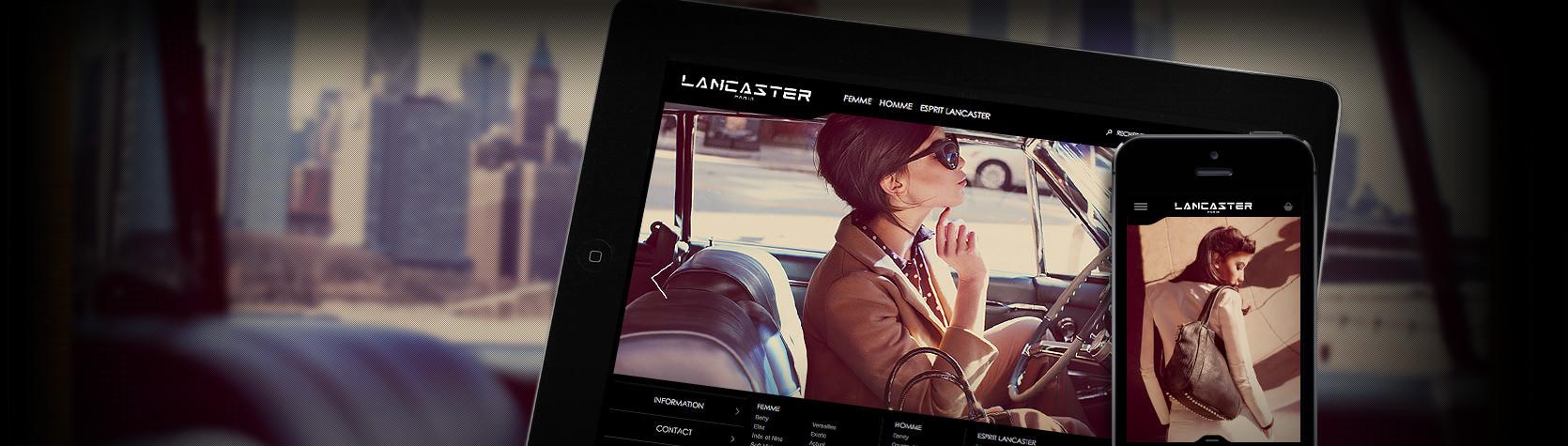 Création site E-Commerce et site mobile Lancaster sous Magento