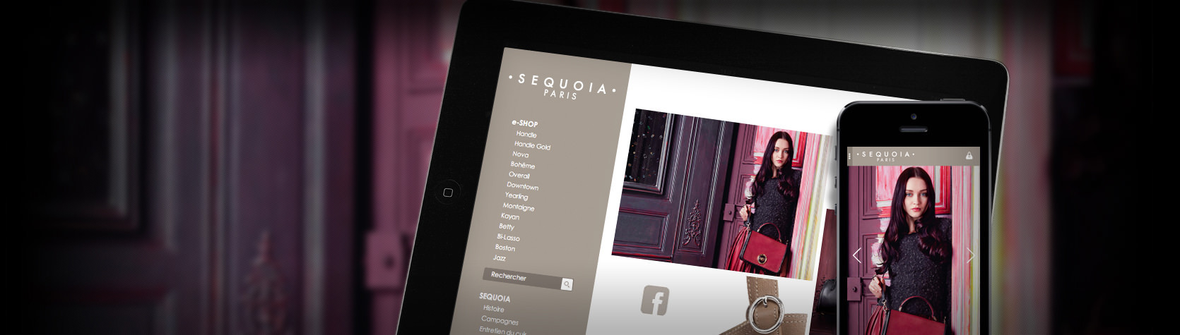 Création de la version mobile et du site E-Commerce SEQUOIA Paris