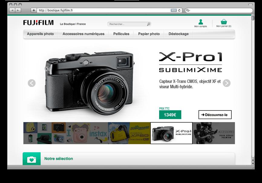Création DND Site E-Commerce Fujifilm