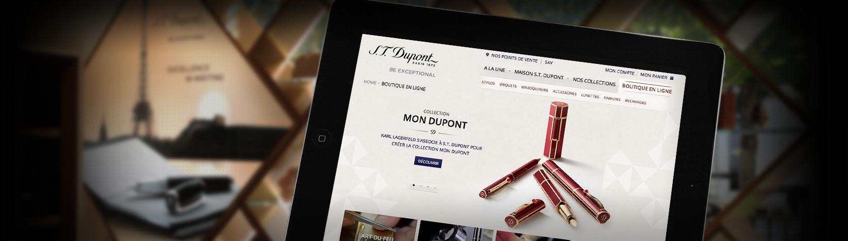 Création du site E-Commerce Magento S.T. Dupont par l'Agence Dn'D