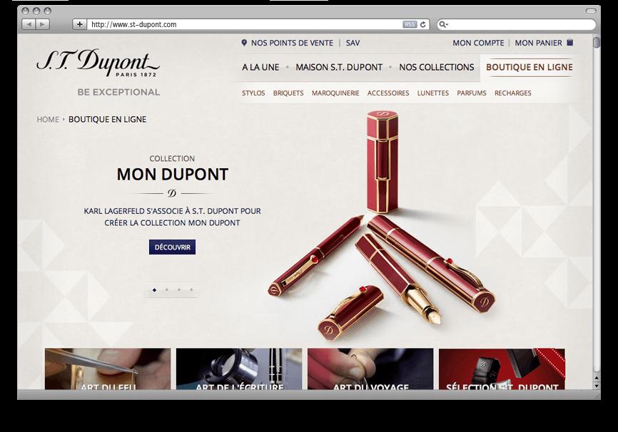 Création DND Site E-Commerce S.T. Dupont