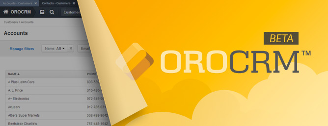 OroCRM en Beta