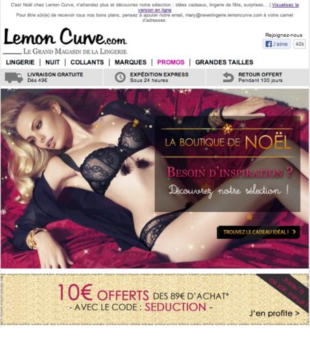 Newsletter Lemon Curve