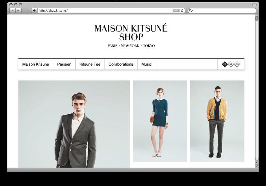 Création DND Site E-Commerce Kitsuné
