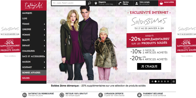 Site E-Commerce Galeries Lafayette