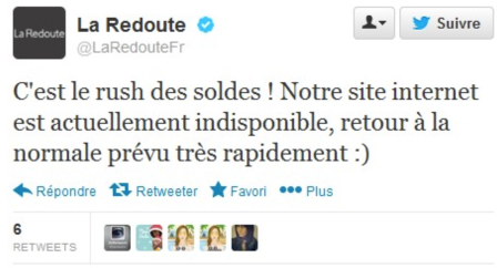Tweet Marketplace La Redoute