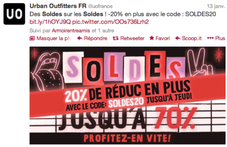 Tweet Soldes Urban Outfitters