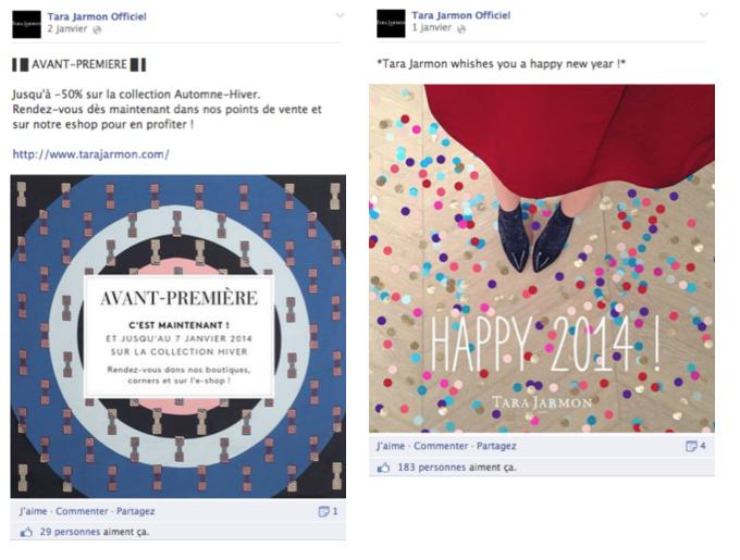 Page Facebook Soldes Tara Jarmon