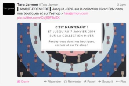 Twitter Soldes Tara Jarmon