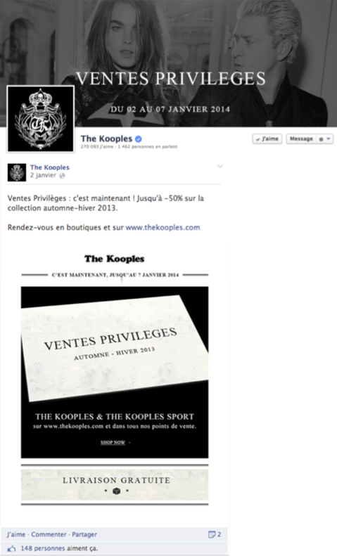 Page Facebook The Kooples