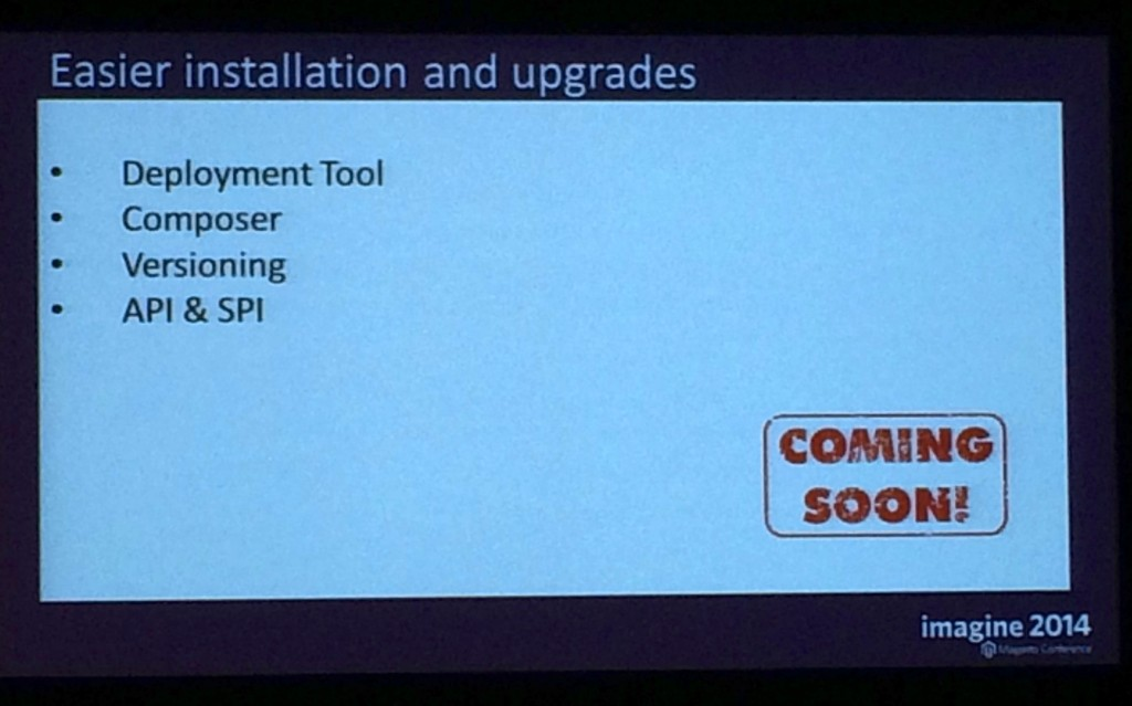 easier installation upgrades magento2
