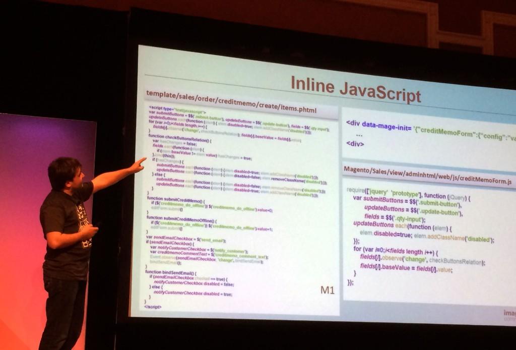 Plus de inline javascript pour Magento 2