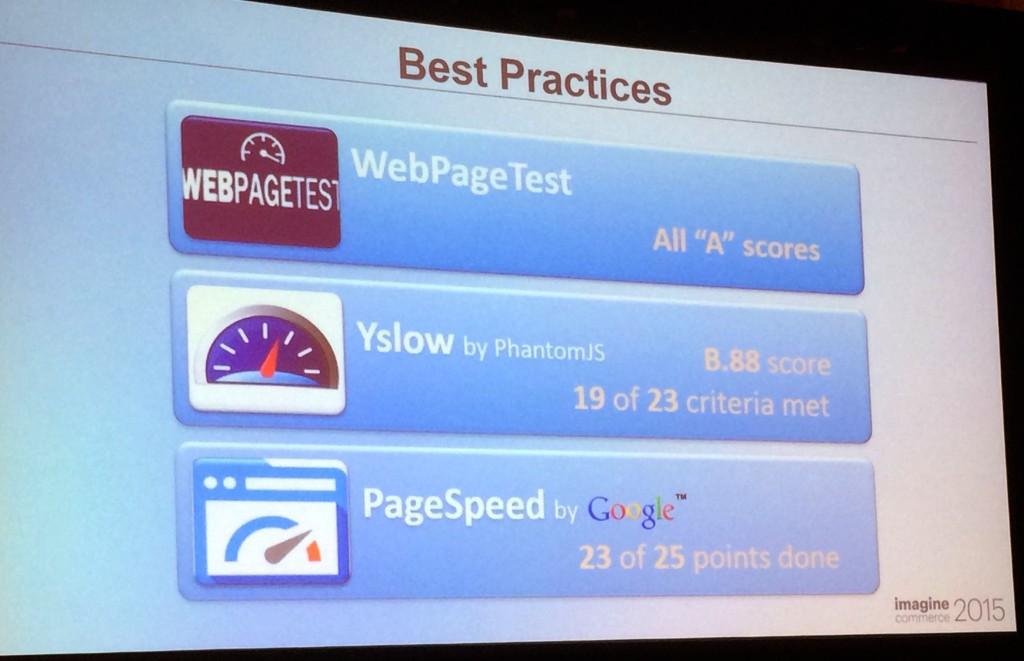 Magento2 : resultats des performances  avec PageSpeed etYslow