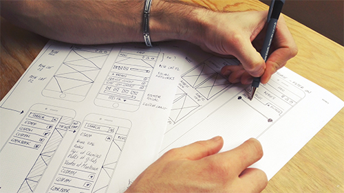 Agence-DnD-wireframing