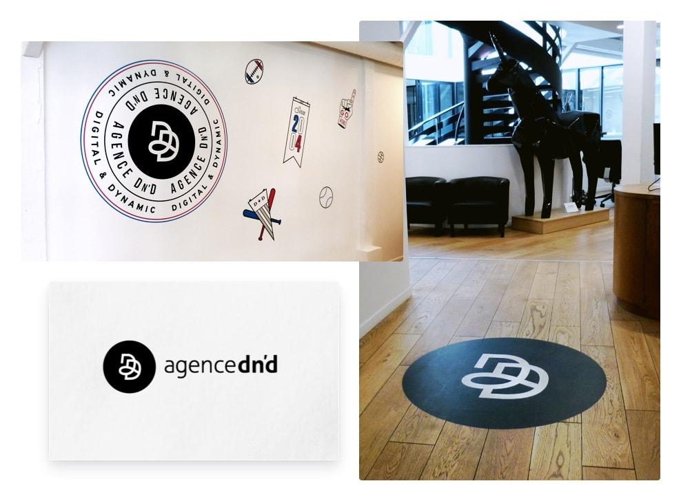 nouveau logo dans les nouveaux locaux Agence Dn'D