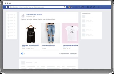 Facebook Nosto recommandations personnalisées