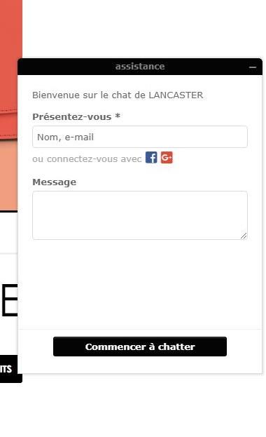 Lancaster chatbot - élément de réassurance pour site E-Commerce