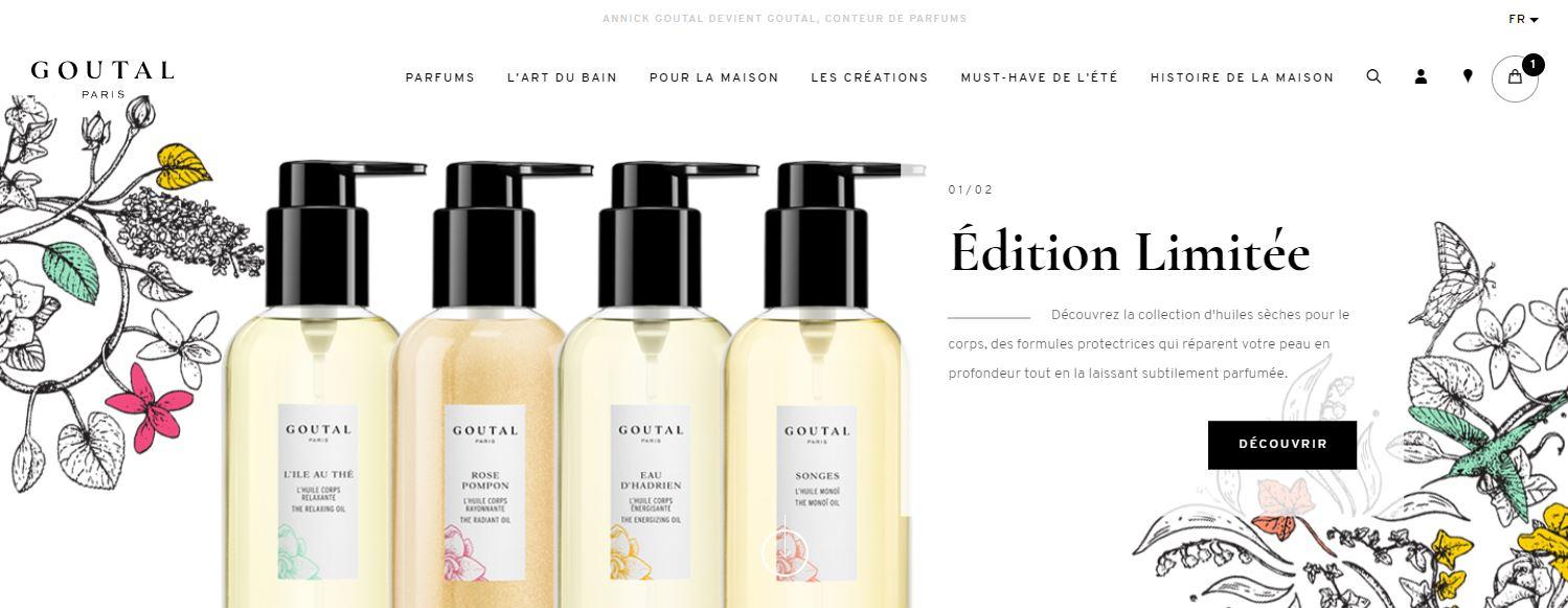 refonte site E-Commerce Goutal Paris
