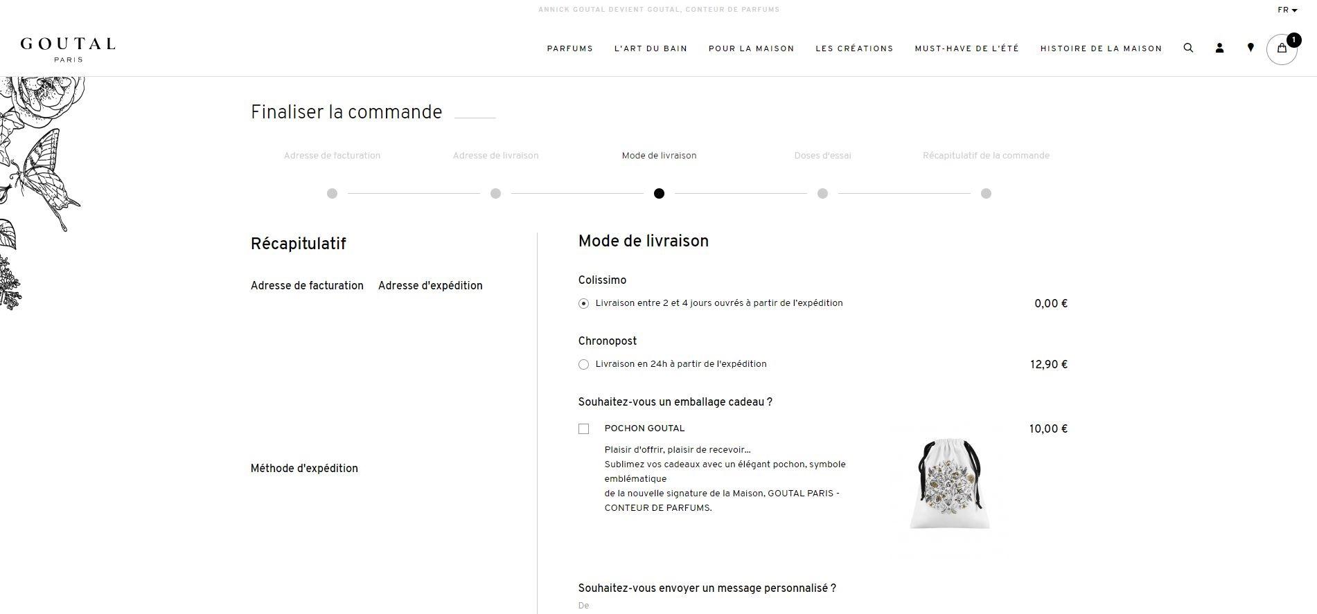 refonte tunnel d'achat pour meilleure expérience client sur site Goutal Paris
