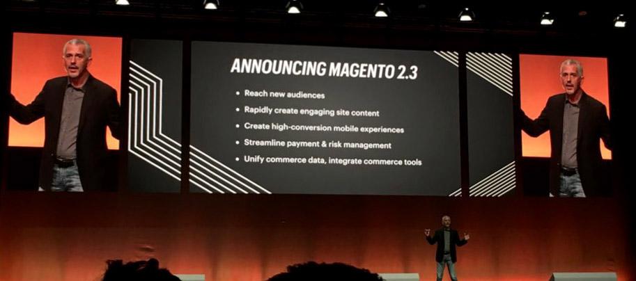 nouveautés Magento 2.3 à MagentoLive Europe
