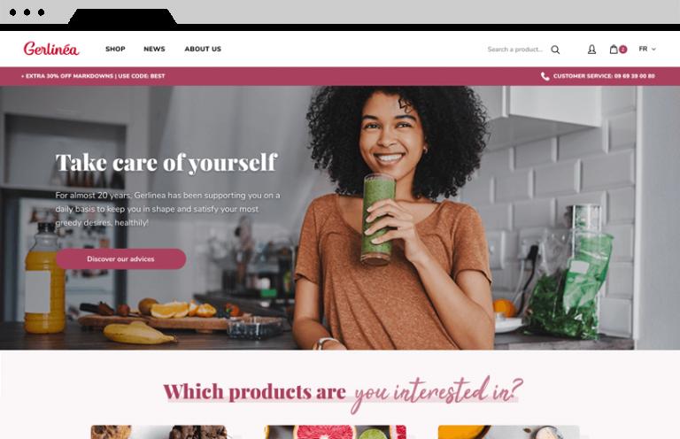 Boutique en ligne Gerlinéa | Agence DnD