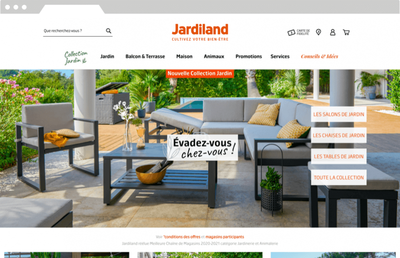 DND-Jardiland, homepage